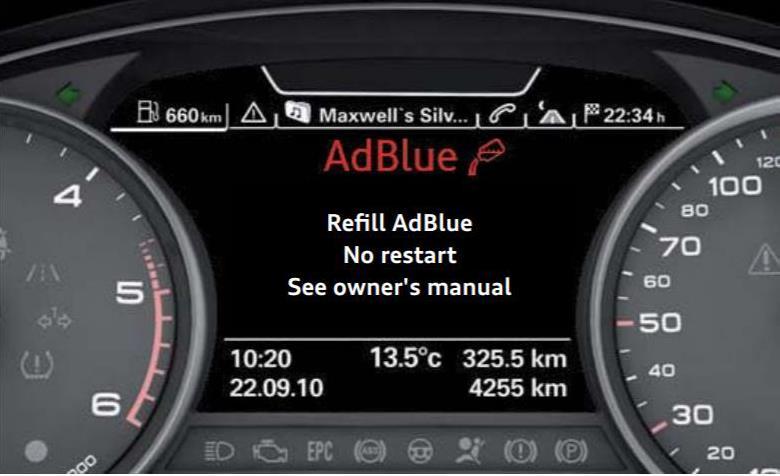 adblue system dash