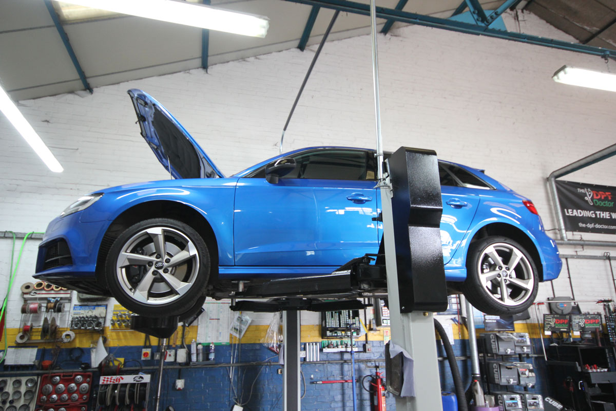 Audi and VW vehicle being serviced in Norwich
