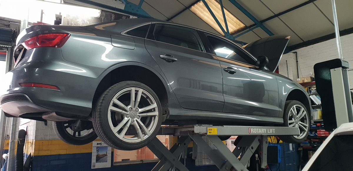 Audi being serviced in Norwich